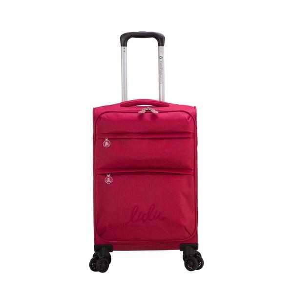 Bordowa walizka z 4 kółkami Lulucastagnette Luciana, 71 l
