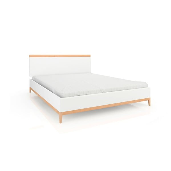 Dvoulůžková postel z masivního borovicového dřeva SKANDICA Livia, 200 x 200 cm