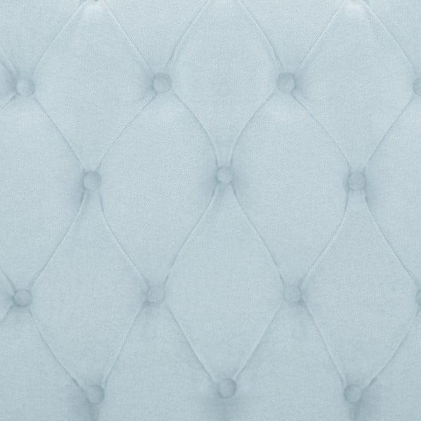Pastelově modrá postel s přírodními nohami Vivonita Allon,140x200cm