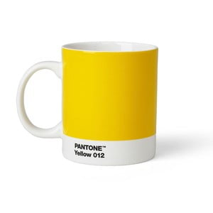 Cană Pantone 012, 375 ml, galben