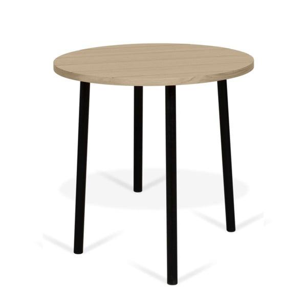 Odkládací stolek s deskou v dekoru dubu TemaHome Ply, ø 50 cm