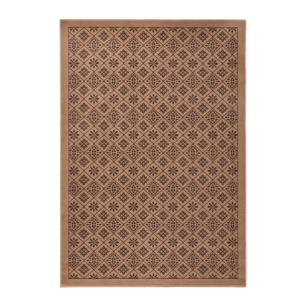 Hnědý koberec Hanse Home Gloria Tile, 80 x 150 cm