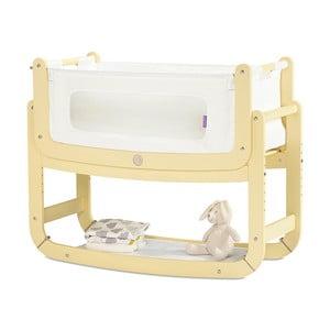 Dětská kolébka s matrací a žlutou konstrukcí Snüz SnuzPod²