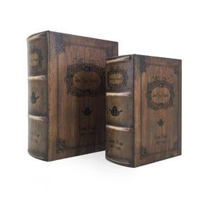 Sada 2 úložných boxů ve tvaru knihy Moycor Notre Dame
