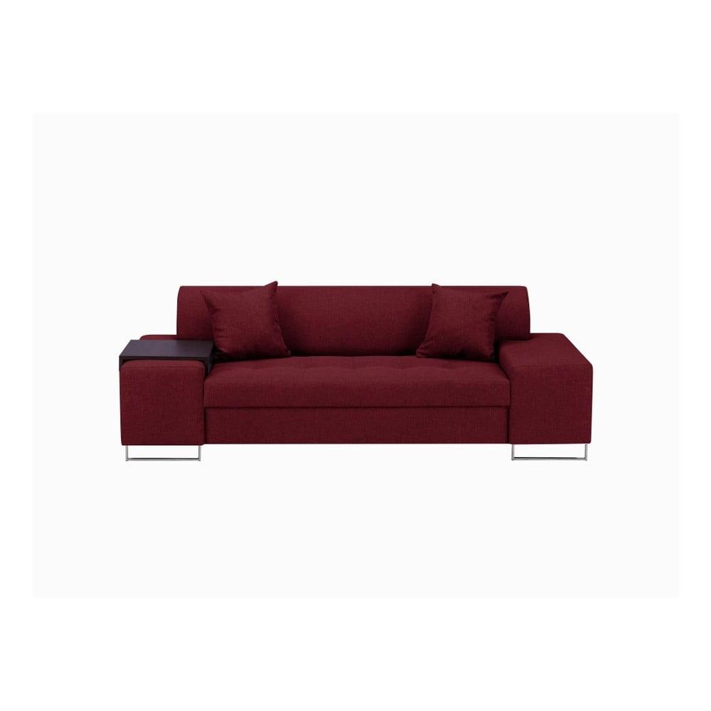 Červená trojmístná pohovka s nohami ve stříbrné barvě Cosmopolitan Orlando