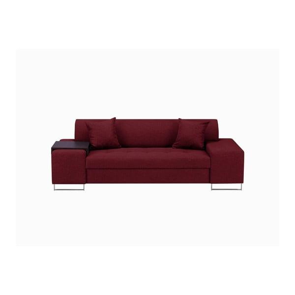 Červená trojmístná pohovka s nohami ve stříbrné barvě Cosmopolitan Design Orlando