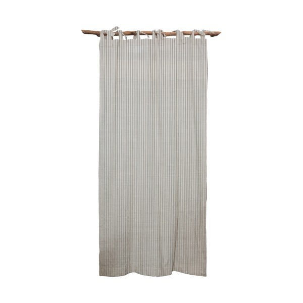 Draperie Linen Cuture Cortina Hogar Grey Marine Stripes, gri