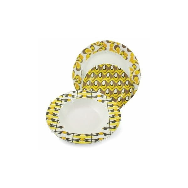 Hluboký talíř Anni žlutý, 21 cm