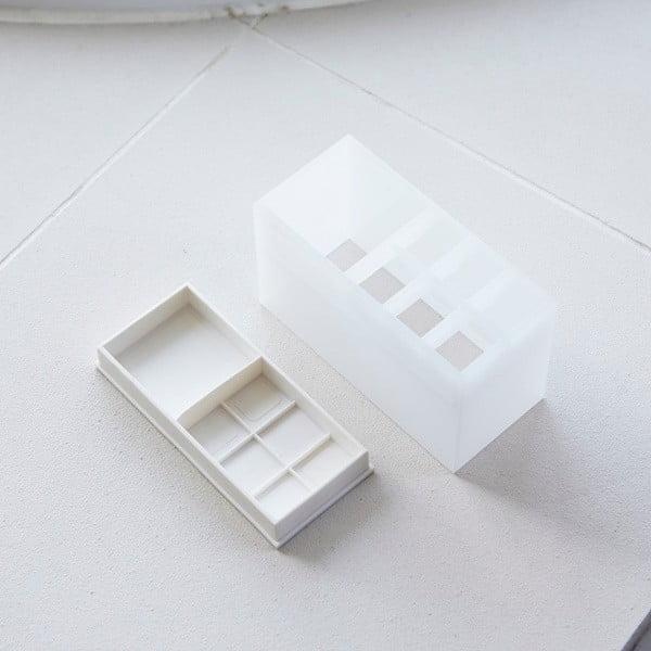 Bílý stojánek na kartáčky YAMAZAKI Veil