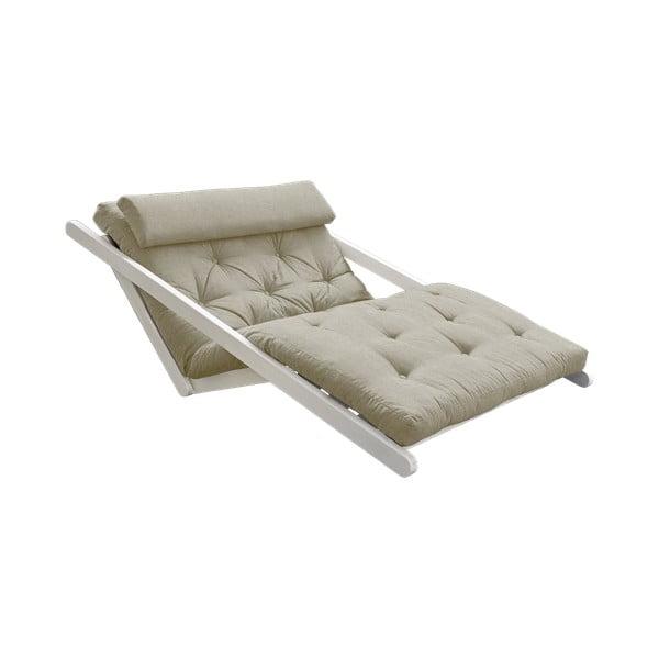 Sofa rozkładana z lnianym pokryciem Karup Design Figo White/Linen
