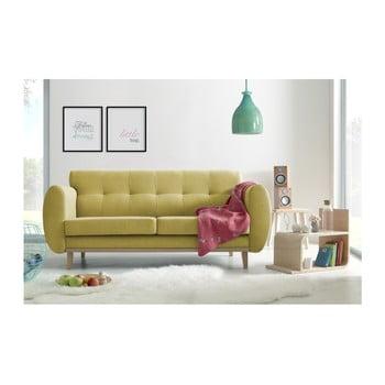 Canapea cu 3 locuri Bobochic Paris Viking, galben de la Bobochic Paris