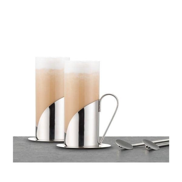 Sada 2 sklenic a lžiček na latté Le'Xpress
