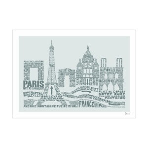 Plakát Paris Grey&Grey, 50x70 cm