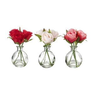 Sada 3 dekorativních květin Heaven Sends Rose Bunch