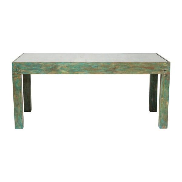 Zelený jídelní stůl s deskou z mangového dřeva Kare Design Surprise, 180 x 90 cm
