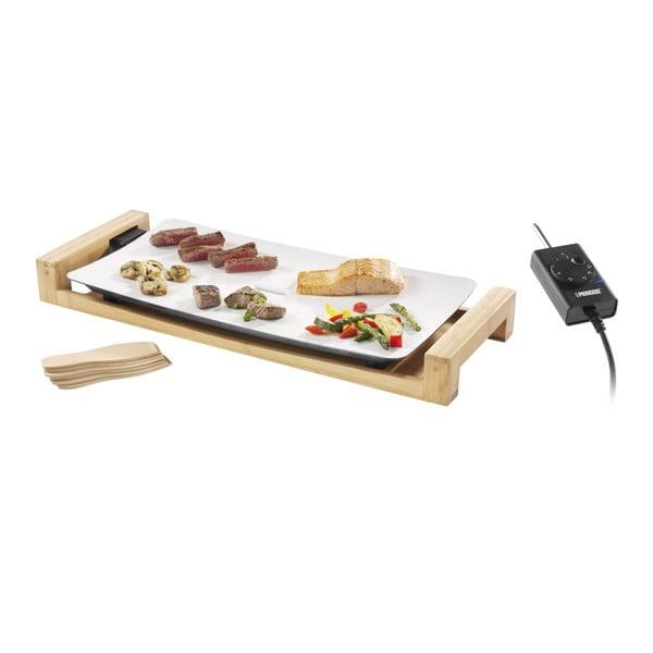 Table Chef Pure elektromos asztali kerámia grillsütő bambusz keretben, 2500W - Princess