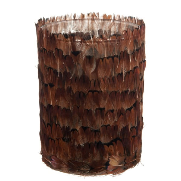 Váza/sklenice J-Line Feathers, 12 cm