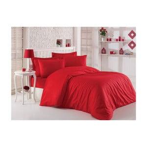 Lenjerie de pat cu cearșaf din bumbac satinat, 200 x 220 cm