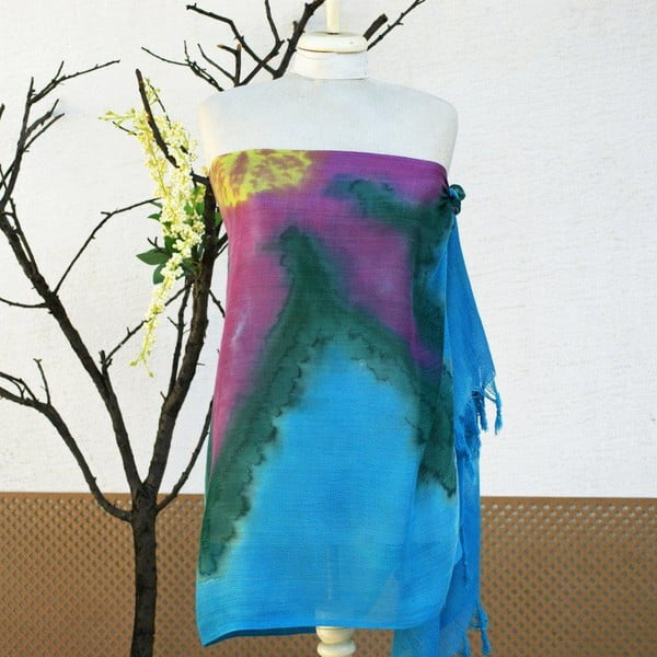 Pareo šátek Cloth Turquoise, 70x190 cm