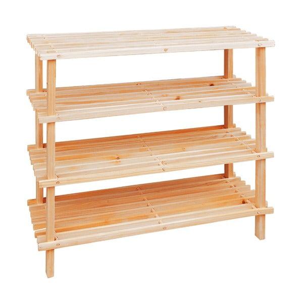 Čtyřpatrový dřevěný stojan na boty Premier Housewares