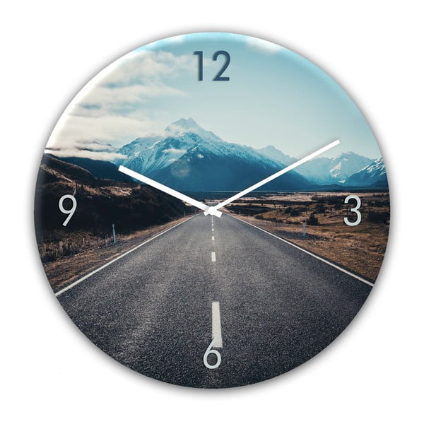 Skleněné nástěnné hodiny Styler Way