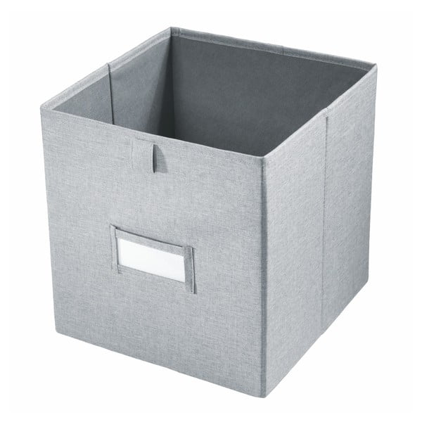 Cutie pentru depozitare iDesign Codi, 38,1 x 26,6 cm, gri
