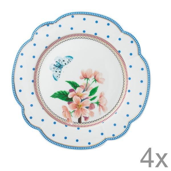 Porcelánový talíř  Dottie od Lisbeth Dahl, 19 cm, 4 ks