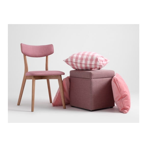 Taburet cu spațiu de depozitare Custom Form Penny, roz