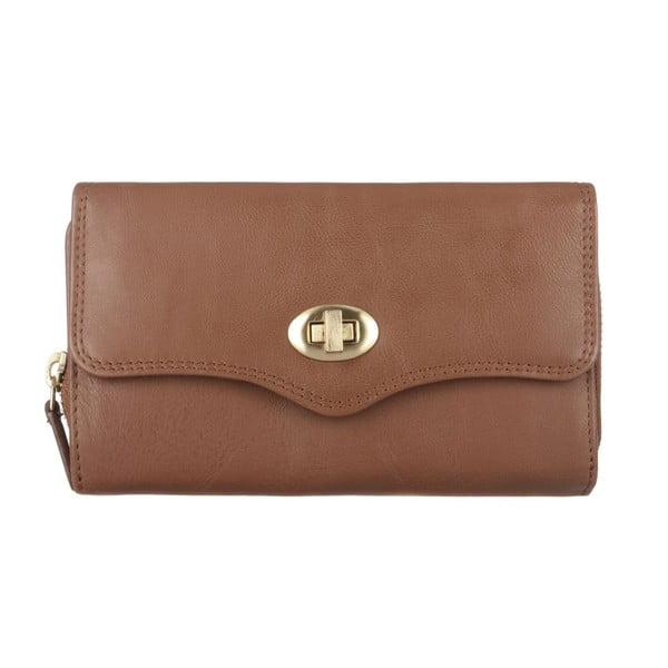 Kožená peněženka Alondra Chestnut
