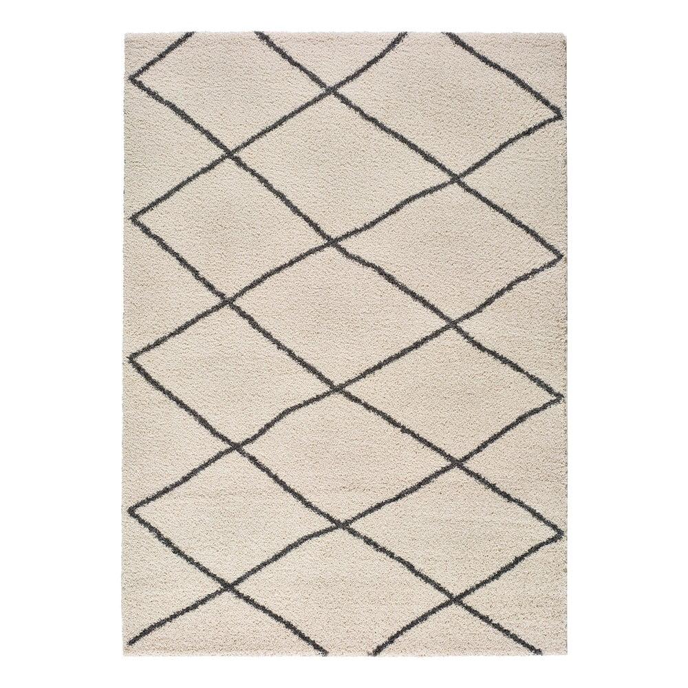 Bílý koberec Universal Atlas Geo, 60 x 120 cm
