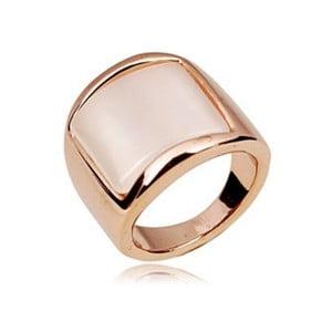 Prsten s krystaly Swarovski a růžovým zlatem Luisa, velikost 52