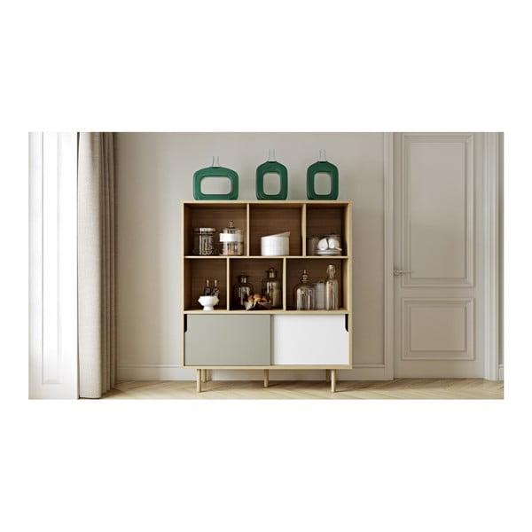 Bílo-šedá skříň TemaHome Dann Oak