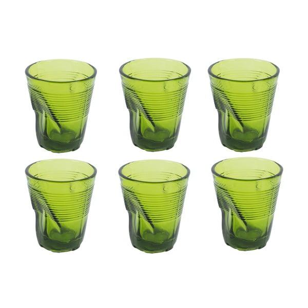 Sada 6 sklenic Kaleidos 200 ml, zelená