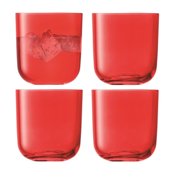 Centro Red, nízká sklenice, sada 4 ks