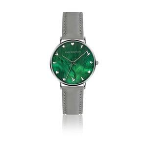 Dámské hodinky s šedým páskem z pravé kůže Emily Westwood Grace