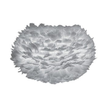 Abajur cu pene de gâscă VITA Copenhagen EOS, Ø 45 cm, gri imagine