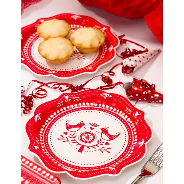 Papírové párty talíře Russian Christmas, 8 ks
