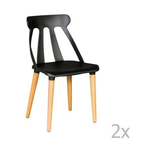 Set 2 scaune Esidra Raul, negru