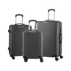 Sada 3 černých cestovních kufrů na kolečkách Murano Vivienne