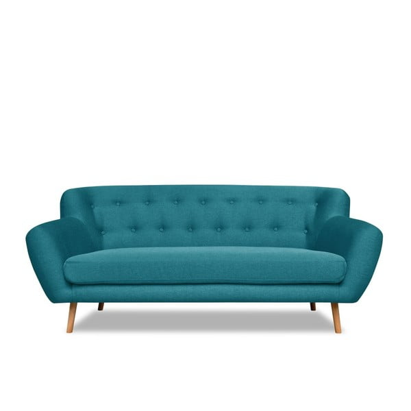Turkusowa sofa 3-osobowa Cosmopolitan design London