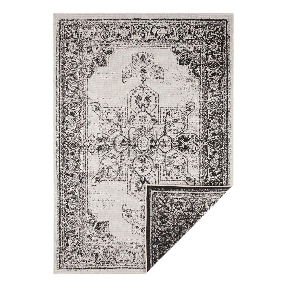 Černo-krémový venkovní koberec Bougari Borbon, 120 x 170 cm