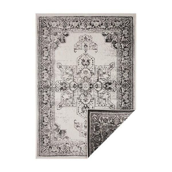 Černo-krémový venkovní koberec Bougari Borbon, 80 x 150 cm