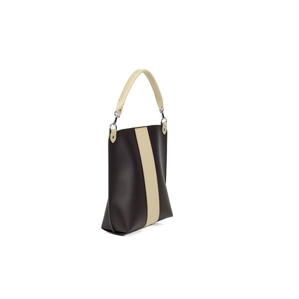 Kožená kabelka Alice Line Brown/Beige