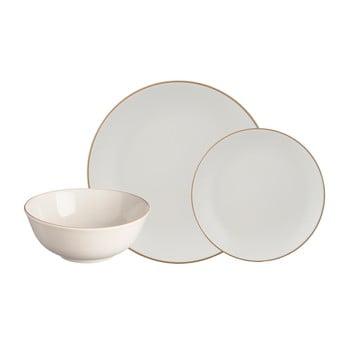 Set 12 piese de veselă din gresie ceramică Mason Cash Classic Collection, crem-alb imagine