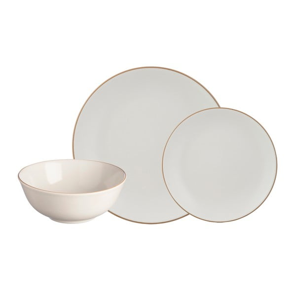 Set veselă din ceramică 12 piese Mason Cash Classic Collection, crem