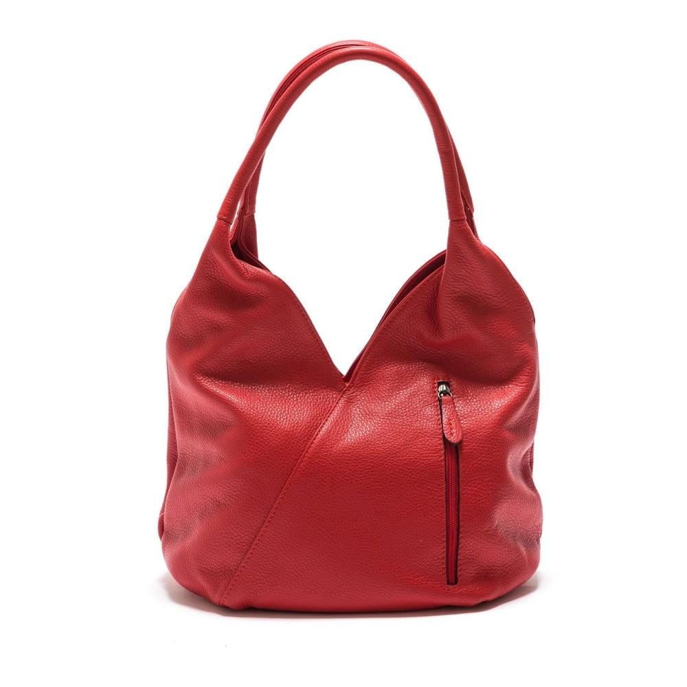 Červená kožená kabelka Roberta M Brigida