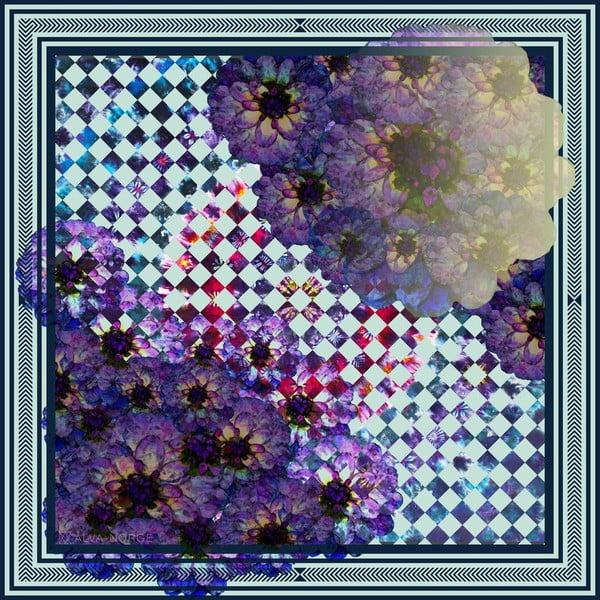 Hedvábný šátek Chess, 130x130 cm