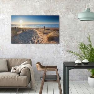 Obraz na plátně OrangeWallz Beach Road, 70 x 118 cm