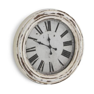 Bílé nástěnné hodiny Geese Antique, Ø67cm