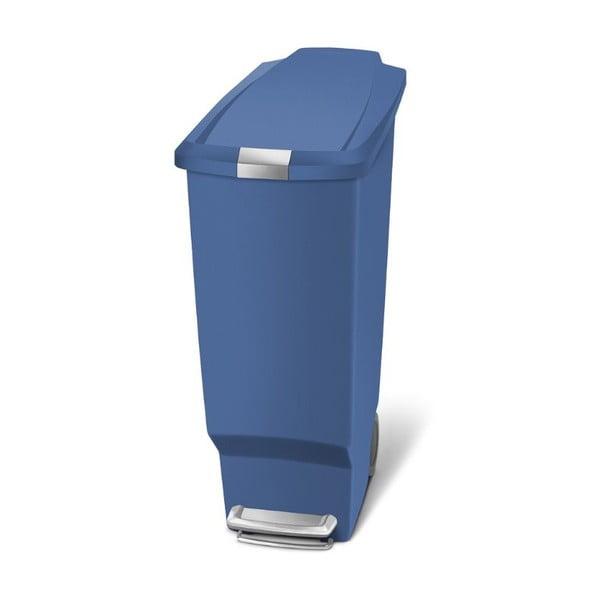 Modrý pedálový koš na odpadky simplehumanSisi, 40 l